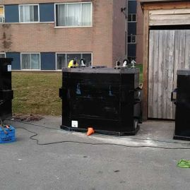 black garbage bins 2